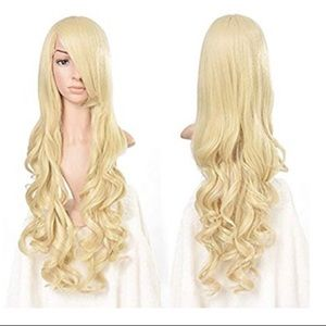 Heat Resistant Curly Long Cosplay Wig Light/Gold